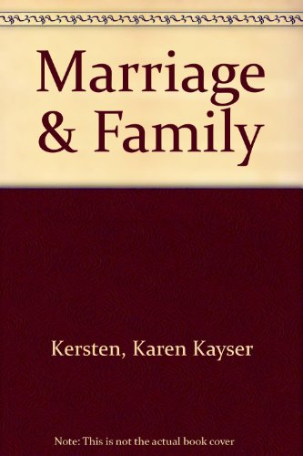 9780060436414: Marriage and the Family: Studying Close Relationships