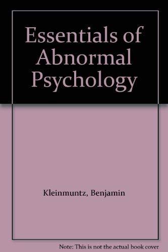9780060437114: Essentials of Abnormal Psychology