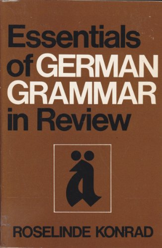 9780060437510: Essentials of German grammar in review