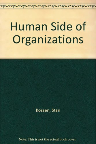 9780060437664: Human Side of Organizations