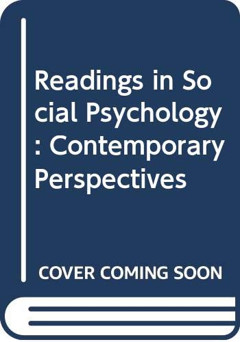 9780060437695: Readings in Social Psychology (Harper & Row's contemporary perspectives reader series)