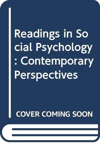 Readings in Social Psychology (Harper & Row's: Krebs, D.