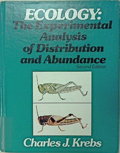 9780060437718: Ecology: The Experimental Analysis of Distribution and Abundance