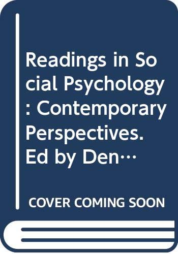 9780060437725: Readings in Social Psychology: Contemporary Perspectives. Ed by Dennis Krebs#(Contemporary Perspectives Reader Series)