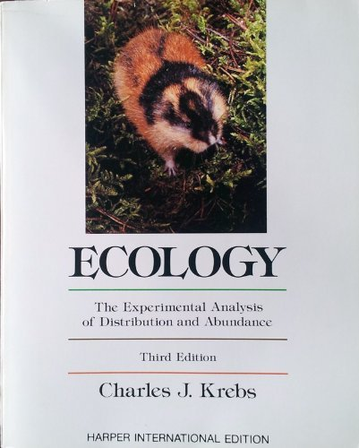 ECOLOGY. The Experimental Analysis of Distribution and Abundance.