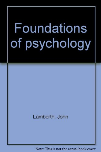 Foundations of Psychology: John C. McCullers;