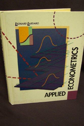 9780060438470: Applied Econometrics (The Harpercollins Series in Economics)