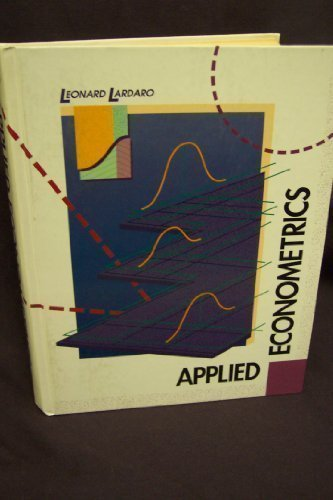 9780060438470: Applied Econometrics (The Harpercollins Series in Economics)