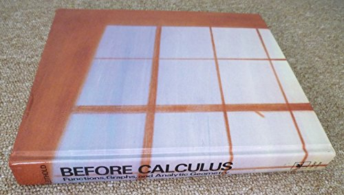 9780060439286: Before calculus: Functions, graphs, and analytic geometry