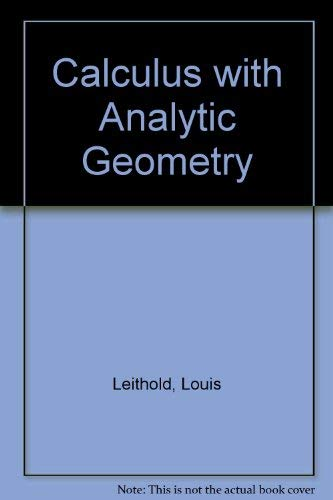 9780060439354: Calculus with Analytic Geometry