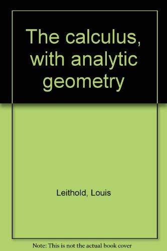 9780060439590: The Calculus with Analytic Geometry