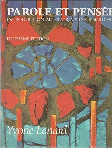 9780060439613: Parole et pensée; (French Edition)
