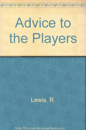9780060439675: Advice to the Players.