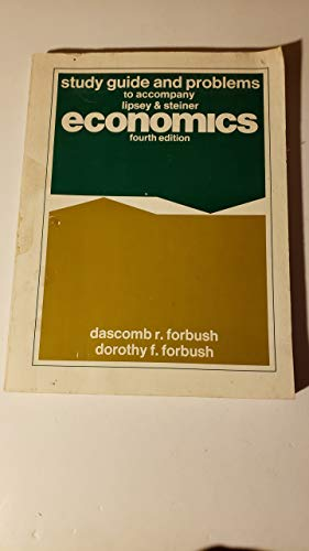 9780060439835: Study guide and problems to accompany Microeconomics, fifth edition, by Richard G. Lipsey and Peter O. Steiner