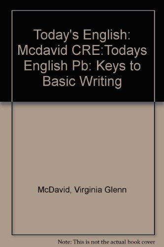 9780060443511: Today's English: Keys to Basic Writing