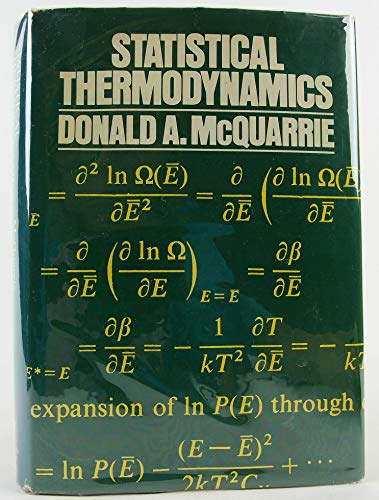 9780060443658: Statistical Thermodynamics (Harper's chemistry series)