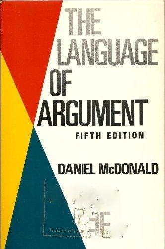 9780060443696: The language of argument