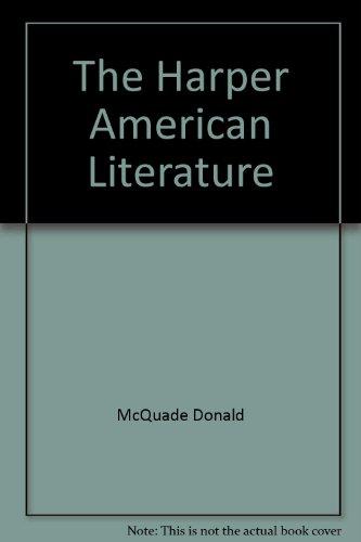 9780060443740: The Harper American literature