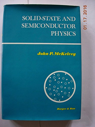 9780060443849: Solid State and Semiconductor Physics