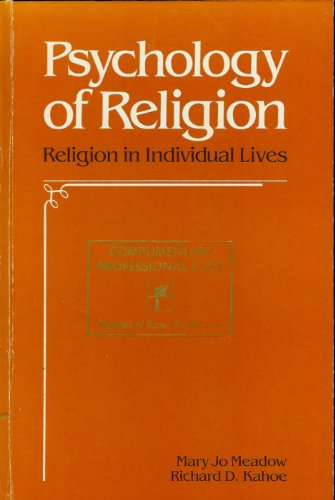 9780060444112: Psychology of Religion