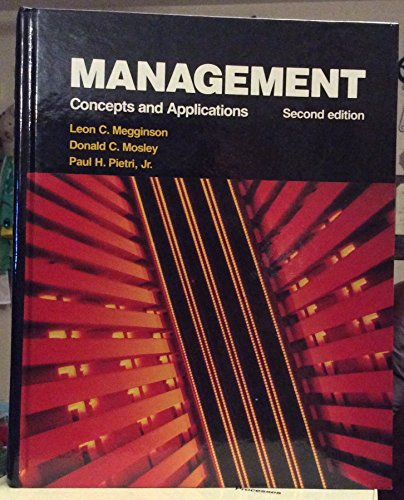9780060444488: Management: Concepts and applications