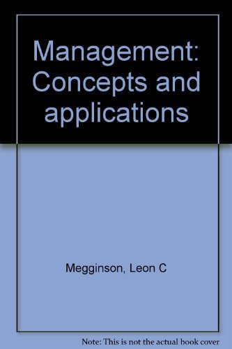 9780060444488: Management, concepts and applications