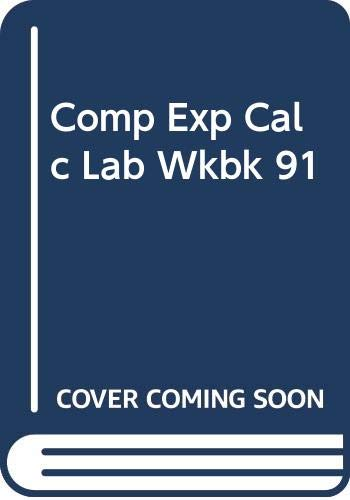 9780060445782: Computer Experiments for Calculus a Laboratory Workbook