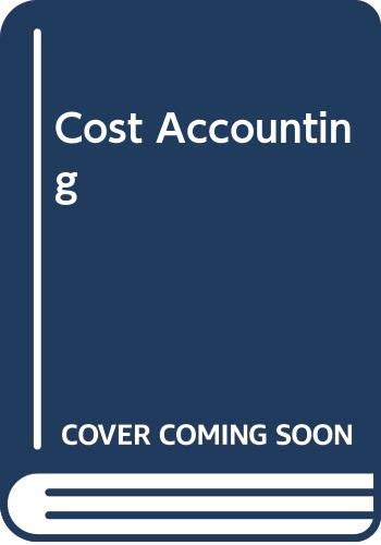 9780060446017: Cost Accounting
