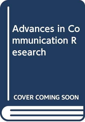 9780060446246: Advances in Communication Research