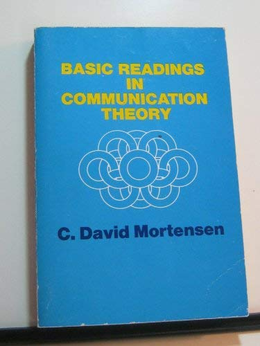 9780060446253: Basic readings in communication theory