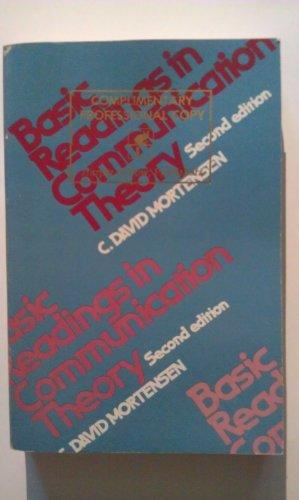 Basic readings in communication theory: Mortensen, C. David