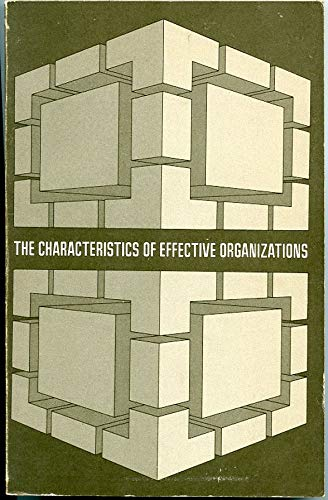 9780060446352: Characteristics of Effective Organizations