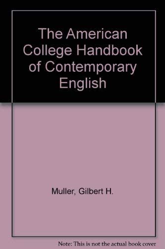 9780060446383: The American College Handbook of Contemporary English