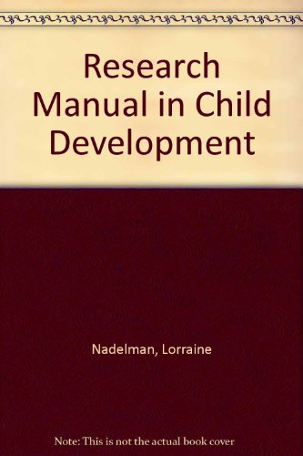 9780060447151: Research Manual in Child Development