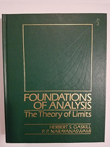 9780060447342: Foundations of Analysis: The Theory of Limits