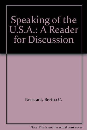 9780060448035: Speaking of the U.S.A.: A Reader for Discussion