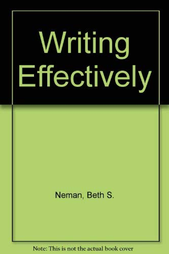 9780060448073: Writing Effectively