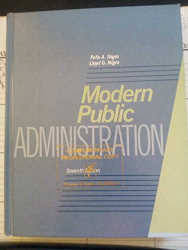 9780060448295: Modern Public Administration