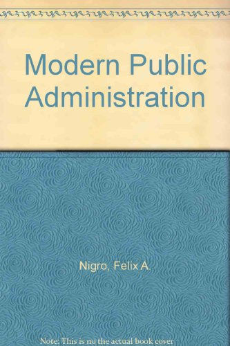 9780060448431: Modern Public Administration