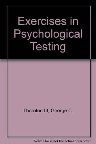 9780060449087: Exercises in Psychological Testing