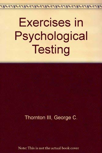 9780060449094: Exercises in Psychological Testing