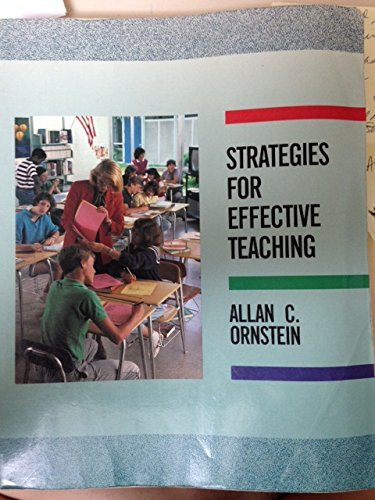 9780060449278: Strategies for Effective Teaching