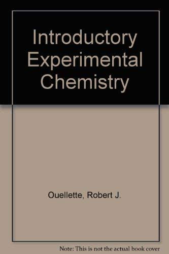 9780060449575: Introductory Experimental Chemistry