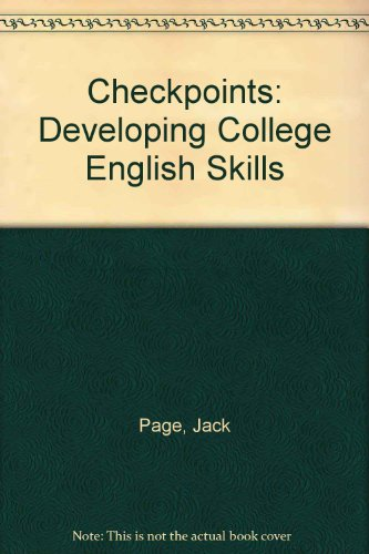 9780060450090: Checkpoints: Developing College English Skills