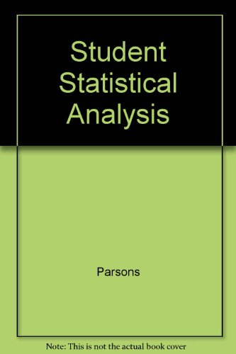 9780060450175: Student Statistical Analysis
