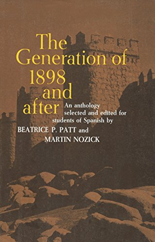 9780060450335: The Generation of 1898 and After (Spanish and English Edition)