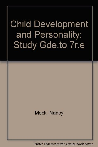 9780060451554: Child Development and Personality: Study Gde.to 7r.e
