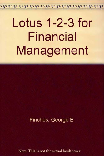 9780060452025: Lotus 1 2 3 for Financial Management/Book and Disk