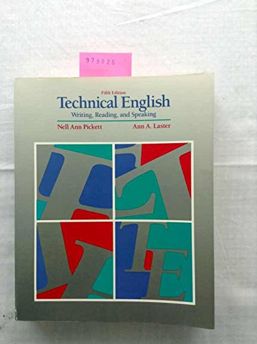9780060452049: Technical English: Writing, Reading and Speaking