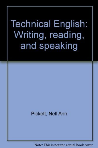 9780060452216: Technical English: Writing, reading, and speaking